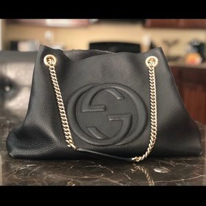 Authentic Black Gucci Soho Bag
